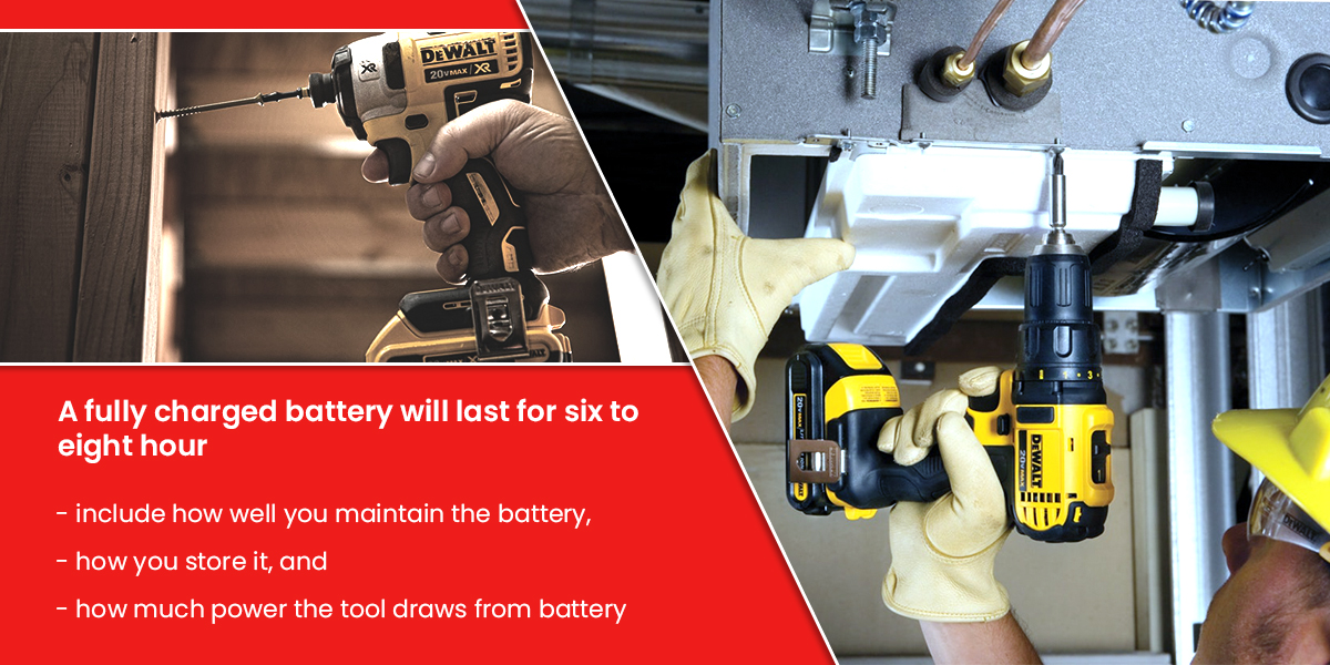 How long does a drill battery take to charge?