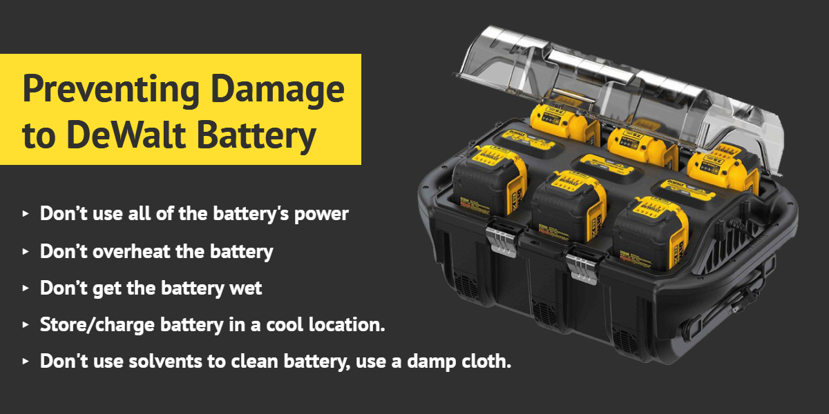 Preventing Damage to DeWalt Battery - Ottawa Fastener Supply