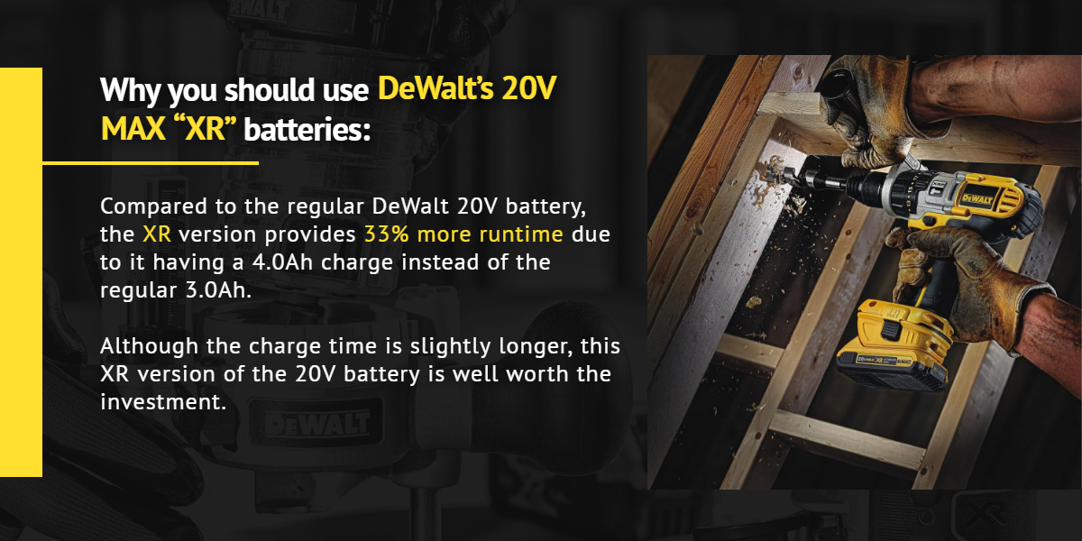Why you should use DeWalt's 20V MAX XR batteries |Ottawa Fastener Supply