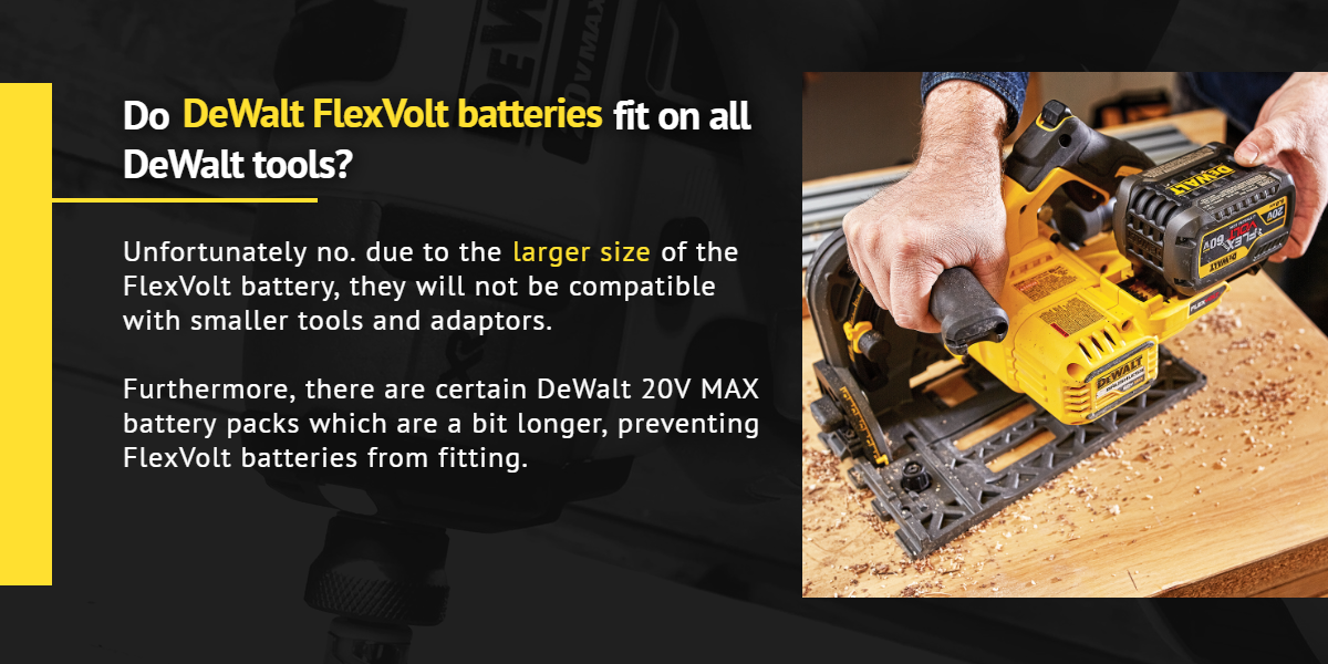 Do DeWalt FlexVolt batteries fit on all DeWalt tools? |Ottawa Fastener Supply