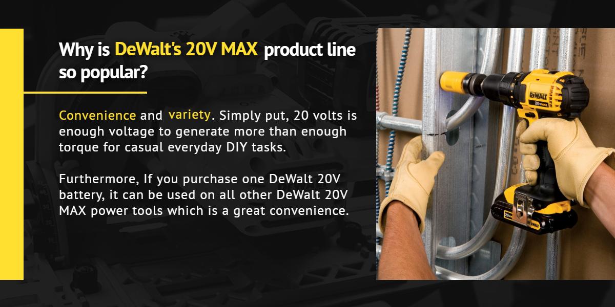 Why is DeWalt's 20V MAX product line so popular? | Ottawa Fastener Supply