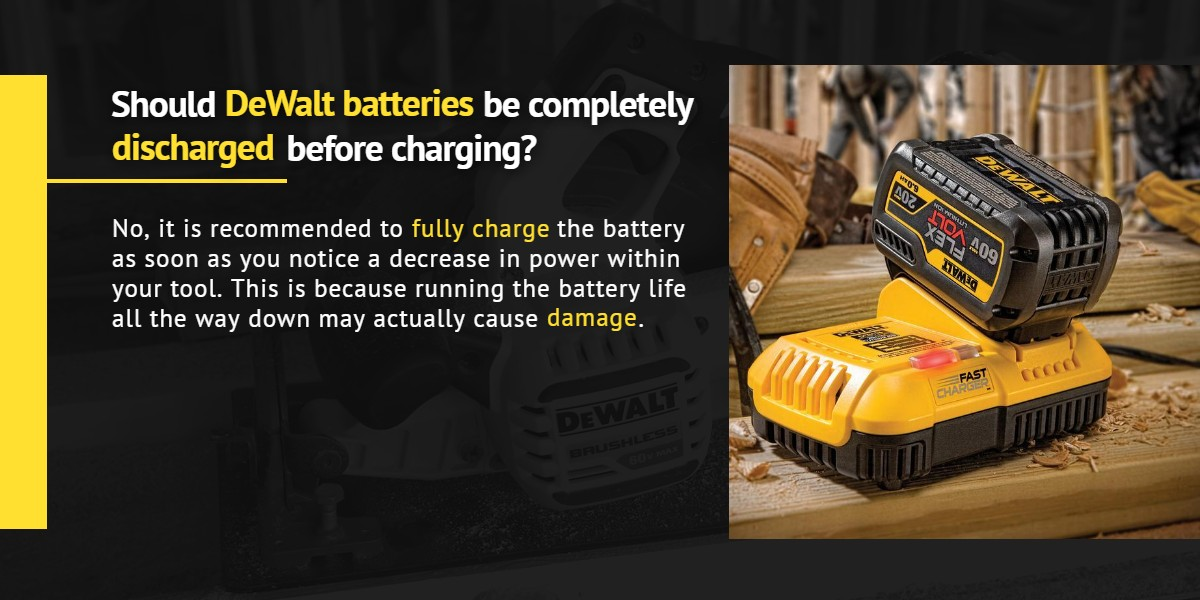 Should DeWalt batteries be completely discharged before charging? |Ottawa Fastener Supply