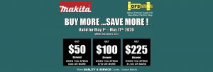 Makita Tools Offer