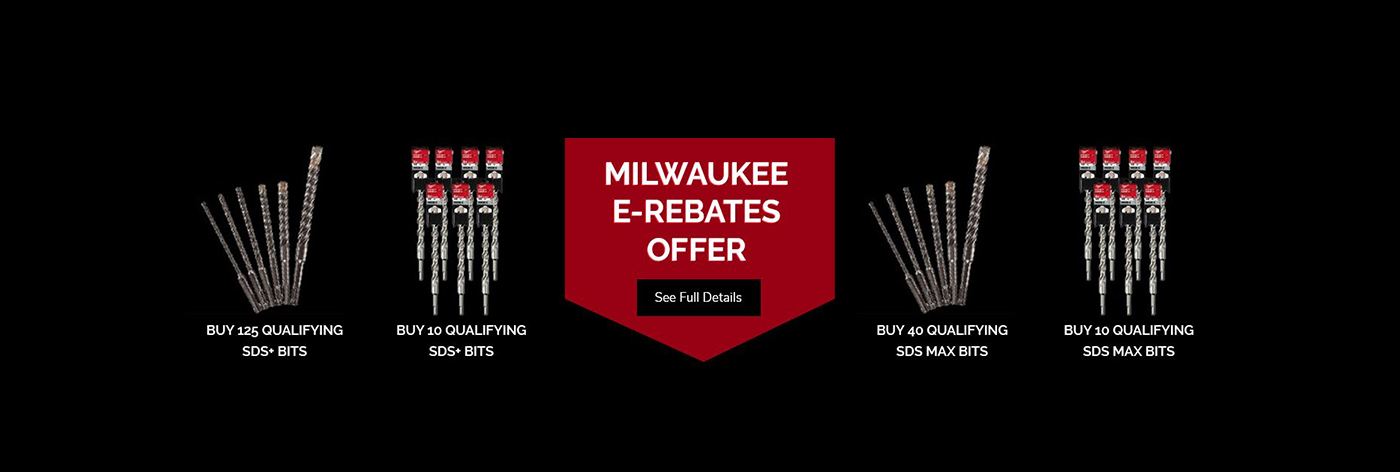 Milwaukee E-Rebates Offer