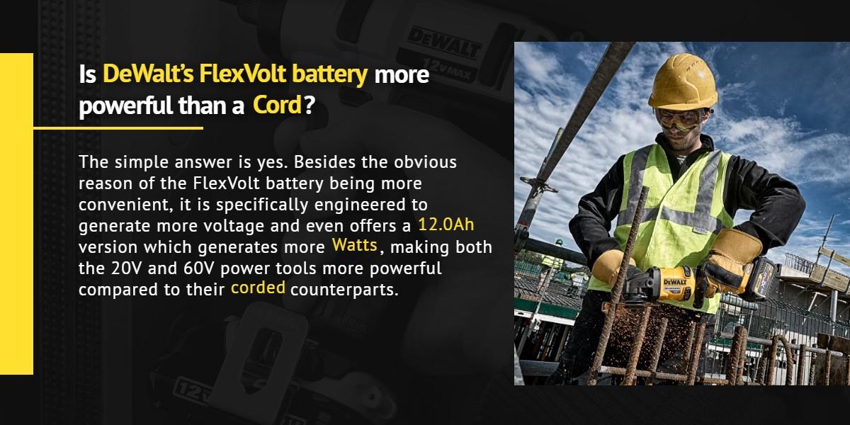 Is DeWalt's FlexVolt battery more powerful than a cord? | Ottawa Fastener Supply