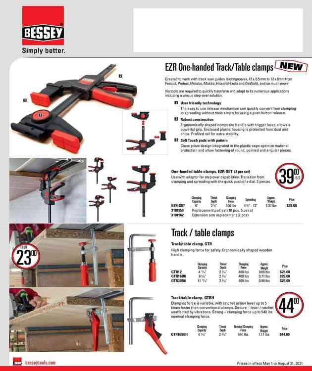BESSEY Woodworking flyer June 1 to Aug 31 2021