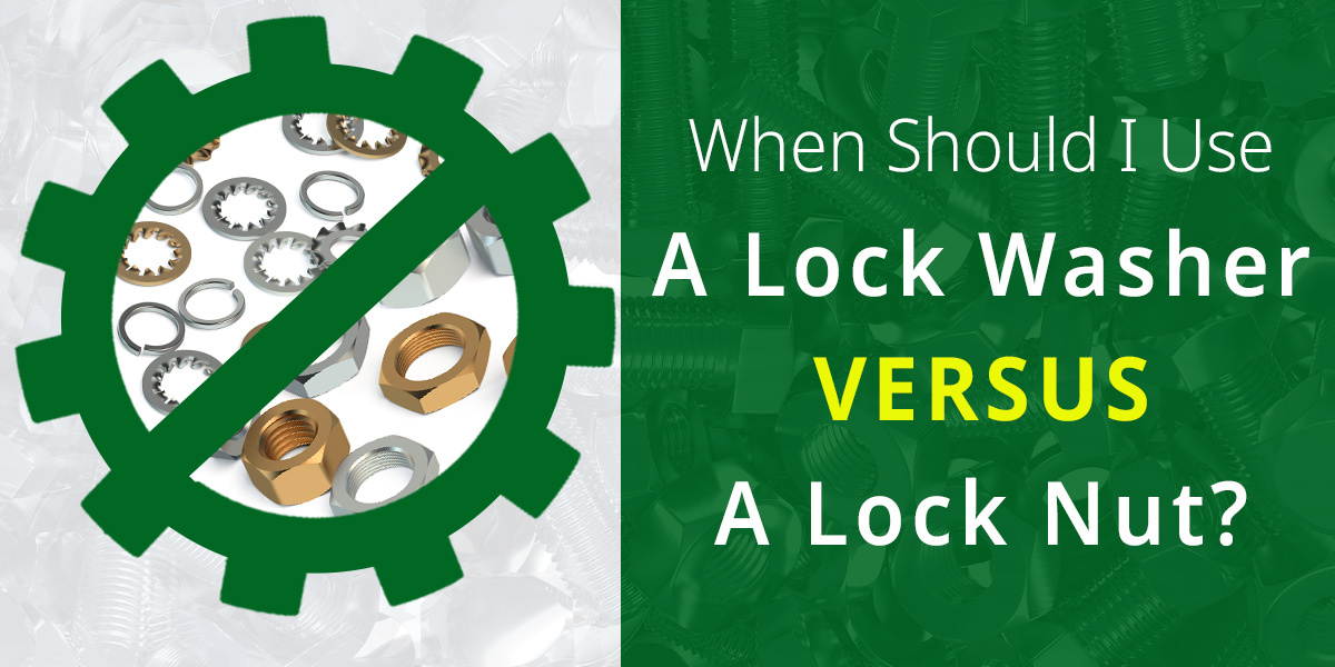 lock washer & lock nut